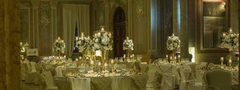 venice wedding reception