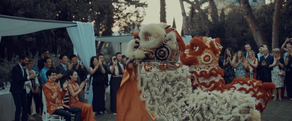 lion dance wedding
