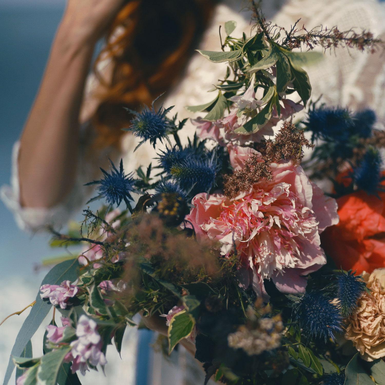 bouquet sposa matrimonio mare